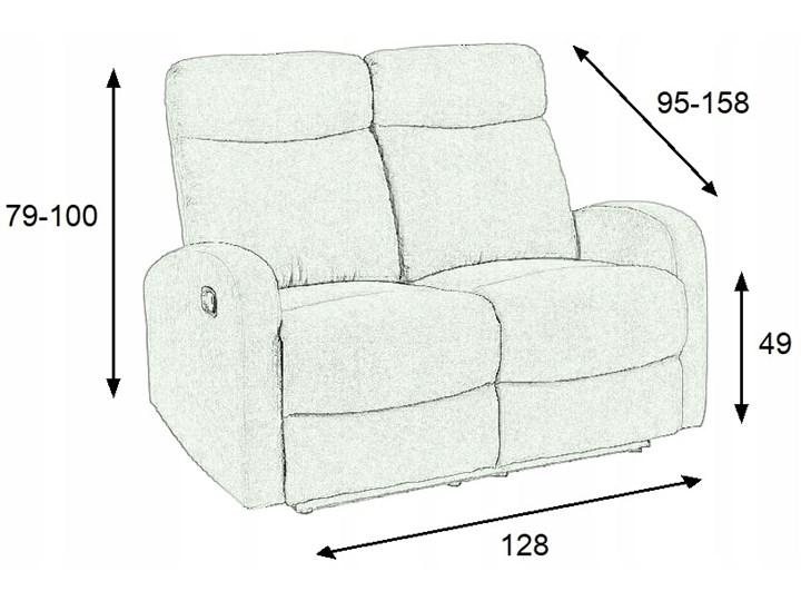 Sofa Rozkładana OSLO 2S Wypoczynkowa Popiel HALMAR Głębokość 95 cm Szerokość 128 cm Pomieszczenie Salon
