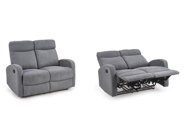 Sofa Rozkładana OSLO 2S Wypoczynkowa Popiel HALMAR Szerokość 128 cm Głębokość 95 cm Styl Klasyczny