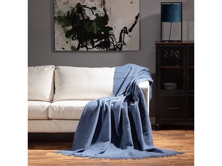 Pled Zelandia 140x200 melange blue, 140 x 200 cm 130x180 cm 140x200 cm Wełna Pomieszczenie Salon