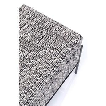 Ławka ze schowkiem Buttons Storage 80x43 cm czarno-biała