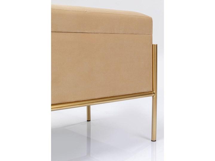Ławka ze schowkiem Buttons Storage 80x43 cm beżowa Kategoria Ławki do salonu