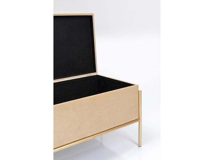 Ławka ze schowkiem Buttons Storage 80x43 cm beżowa Kategoria Ławki do salonu Pomieszczenie Salon