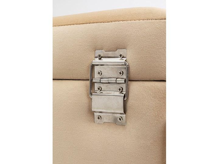 Ławka ze schowkiem Buttons Storage 80x43 cm beżowa Kolor Beżowy Pomieszczenie Salon