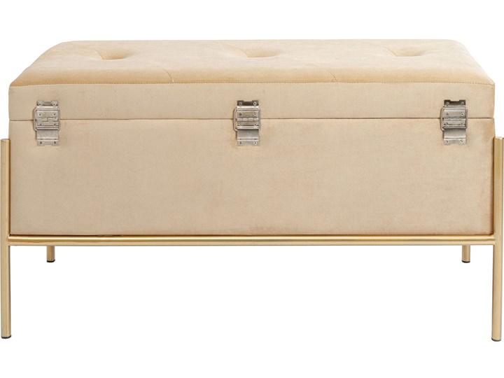 Ławka ze schowkiem Buttons Storage 80x43 cm beżowa Pomieszczenie Salon