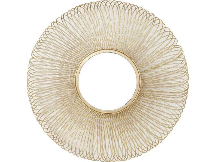 Lustro wiszące El Sol Gold Ø79 cm złote Lustro z ramą Ścienne Okrągłe Pomieszczenie Salon