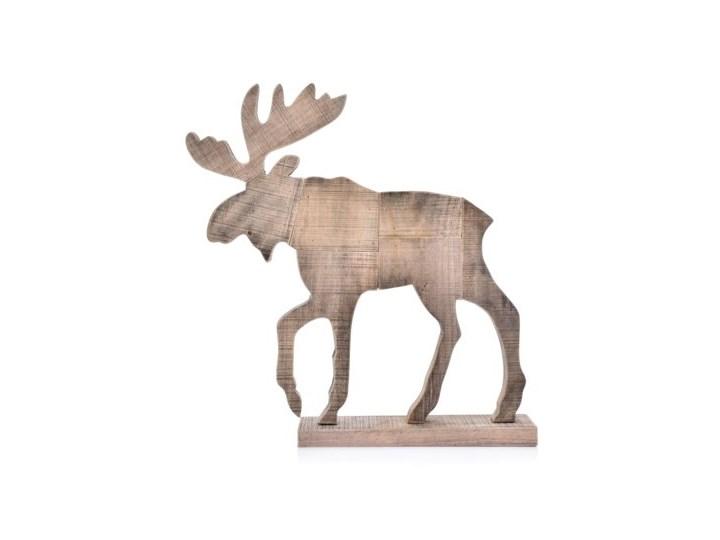 Figurka dekoracyjna łoś DUKA GAMMAL 47x8x49 cm brązowa drewno Kategoria Figury i rzeźby