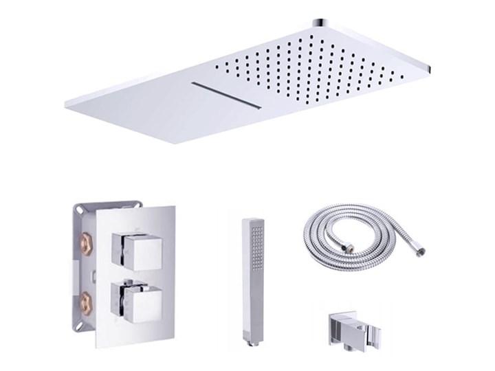 VELDMAN ZESTAW PODTYNKOWY DESZCZOWNICA KASKADA 9013 Wyposażenie Z uchwytem Kategoria Zestawy prysznicowe