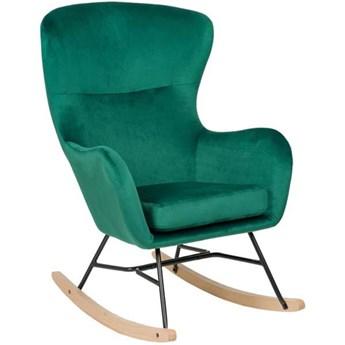 Fotel bujany butelkowa zieleń - NILSEN ( YC-9117_MWM004 ) - welur