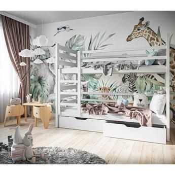 Łóżko piętrowe 80x190 PLUTO biały