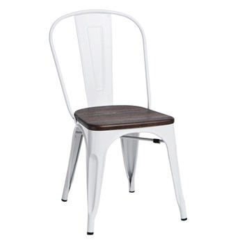 Krzesło Paris Wood sosna szczotkowana/biały