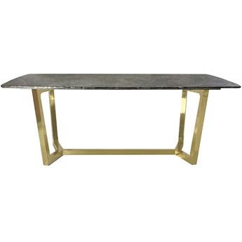 Stół ROSETA GLAMUR Marmur Brąz Złoto 200 x 100