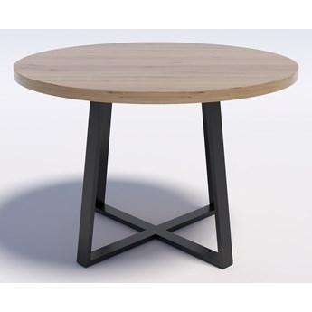 Stół z dębowym blatem okrągły RING X 110 Dąb lity rustykalny