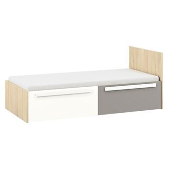 Łóżko 90x200 DRIP DP17 buk fjord / biały / szara platyna