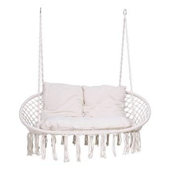 Fotel wiszący LAGOS kremowy z poduszkami