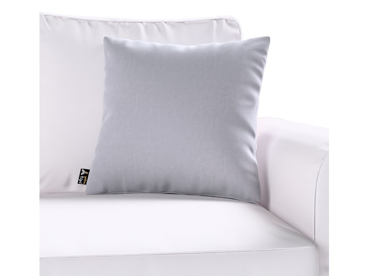 Poszewka Milly, srebrzysty szary, 60 × 60 cm, Posh Velvet Poszewka dekoracyjna Poliester 60x60 cm 50x50 cm Kwadratowe Wzór Jednolity