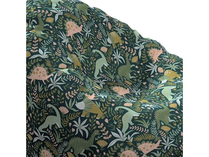Worek do siedzenia Bowli, Dinozaury na zielonym tle, Ø60 × 105 cm, Magic Collection Zwierzak Kategoria Pufy Tkanina Pomieszczenie Pokój nastolatka