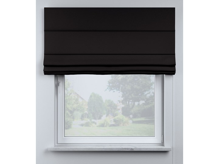 Roleta rzymska Billie, Black (czarny), szer.100 × dł.170 cm, Cotton Story Pomieszczenie Pokój przedszkolaka Wzór Dla dzieci