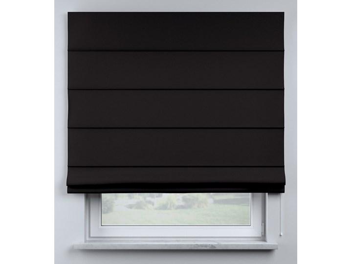 Roleta rzymska Billie, Black (czarny), szer.100 × dł.170 cm, Cotton Story Pomieszczenie Pokój przedszkolaka