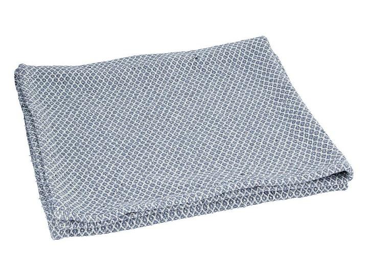 Narzuta bawełniana niebieska, 100x80x0,5cm Akryl Pled Poliester Bawełna Pomieszczenie Pokój przedszkolaka Kategoria Koce i pledy