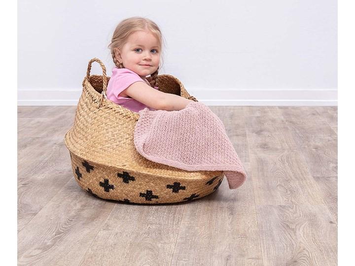 Pled Wooly pink, 110x0,5x86cm Welur Wełna Akryl Poliester Pomieszczenie Salon