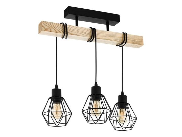 Eglo 43131 - Żyrandol natynkowy TOWNSHEND 3xE27/60W/230V Metal Drewno Ilość źródeł światła 3 źródła Kategoria Lampy wiszące