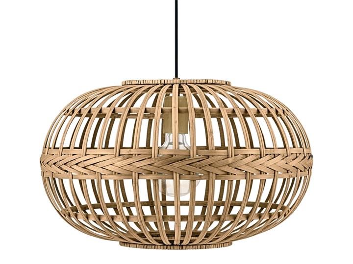 Eglo 49771 - Lampa wisząca AMSFIELD 1xE27/60W Metal Lampa z abażurem Drewno Kolor Beżowy