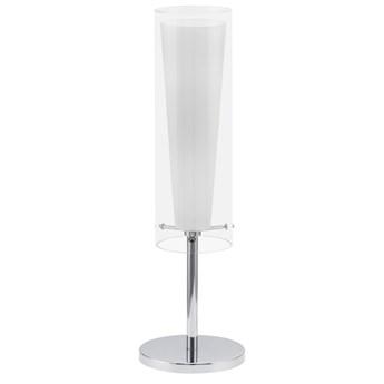 EGLO 89835 - Lampa stołowa PINTO 1 x E27/60W biała/opalone szkło