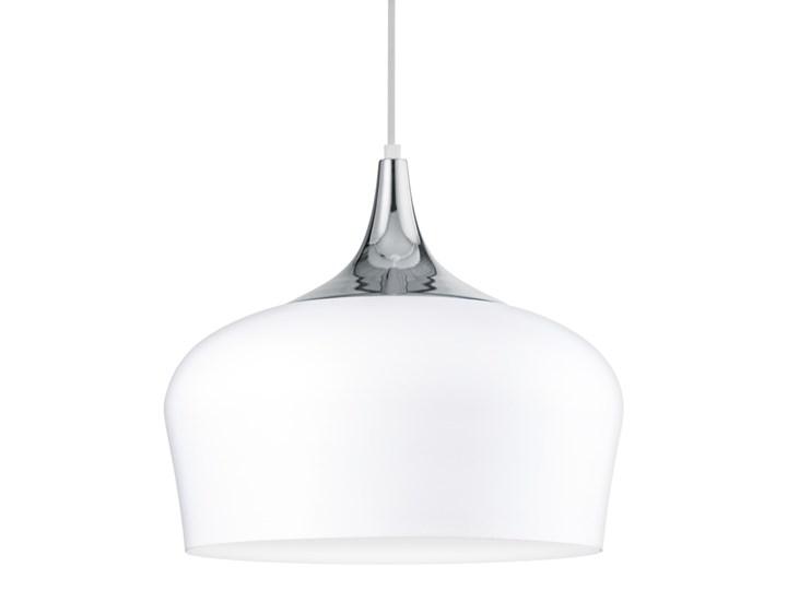 Eglo 95384 - Żyrandol OBREGON 1xE27/60W/230V Metal Styl Nowoczesny Lampa z kloszem Kolor Biały