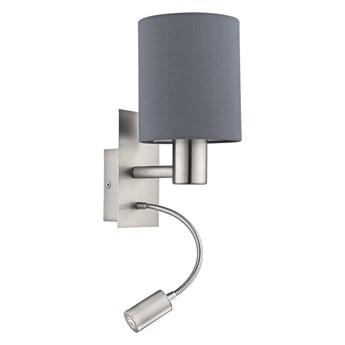 Eglo 96479 - LED Kinkiet PASTERI 1xE27/40W+LED/3,5W szary