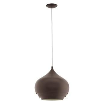 Eglo 97214 - Żyrandol na lince CAMBORNE 1xE27/60W/230V brązowy średnica 380 mm
