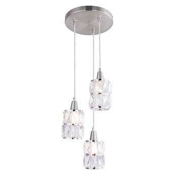 Globo 15760-3 - Żyrandol kryształowy na lince WOLLI 3xE14/40W/230V