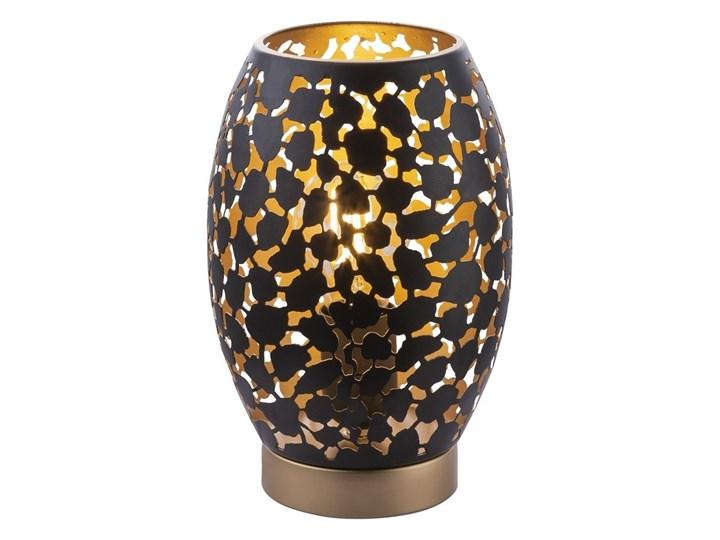 Globo 24003S - Lampa stołowa HANRY 1xE27/40W/230V Kolor Czarny Lampa z kloszem Wysokość 23 cm Kolor Złoty