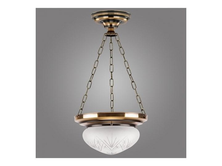 Kemar OPW60/M/P - Żyrandol OURO EAGLE 1xE27/100W/230V Metal Lampa z kloszem Szkło Styl Klasyczny