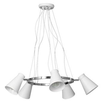 Lampa wisząca BEVAN 5xE27/60W biała