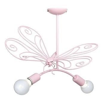 Lampa wisząca dziecięca Motyl 2xE27/60W różowa