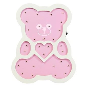 LED Lampa dziecięca LED/2xAA różowy niedźwiedź