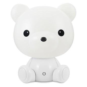 LED Ściemnialna dziecięca lampka nocna 2,5W/230V niedźwiedź biały