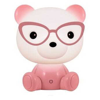 LED Ściemnialna dziecięca lampka nocna LED/2,5W niedźwiedź różowy