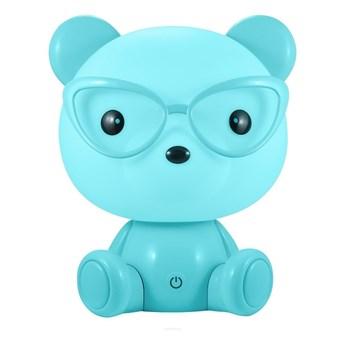LED Ściemnialna dziecięca nocna lampka LED/2,5W niedźwiedź niebieski