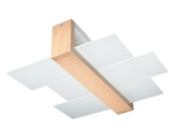 Plafon FENIKS 2 2xE27/60W/230V naturalny drewno