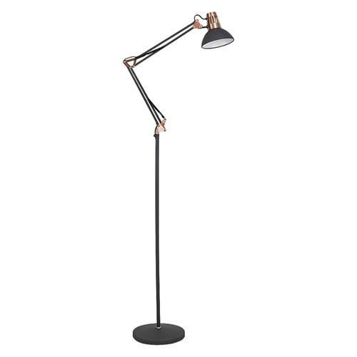 Rabalux 4523 - Lampa podłogowa GARETH 1xE27/40W/230V czarny