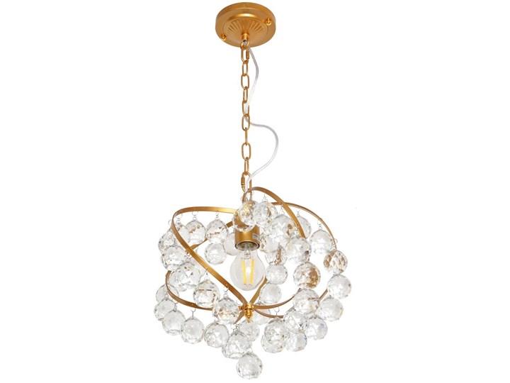 Żyrandol kryształowy na łańcuchu VIOLETA 1xE27/60W/230V Metal Lampa z kryształkami Styl Glamour