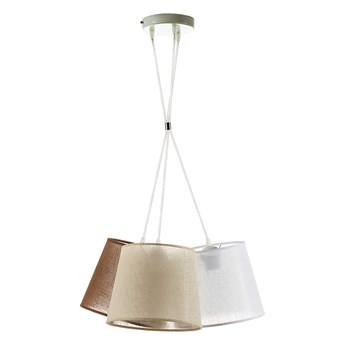 Żyrandol na drucie ROSSA 3xE27/40W/230V brązowy