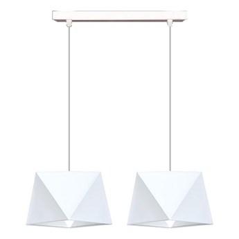 Żyrandol na lince DIAMENT 2xE27/60W/230V biały