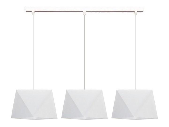 Żyrandol na lince DIAMENT 3xE27/60W/230V biały Ilość źródeł światła 3 źródła Tkanina Metal Kategoria Lampy wiszące