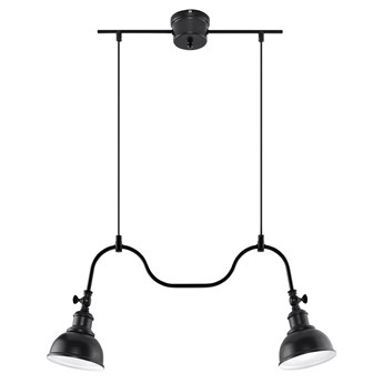 Żyrandol na lince MARE 2 2xE27/60W/230V czarny