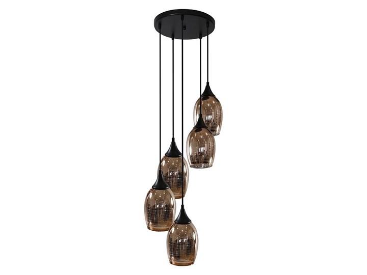 Żyrandol na lince MARINA 5xE27/60W/230V Kategoria Lampy wiszące Szkło Metal Kolor Czarny