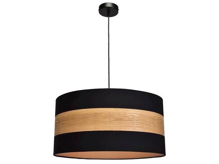 Żyrandol na lince TERRA 1xE27/60W/230V Kolor Brązowy Drewno Tkanina Metal Kategoria Lampy wiszące