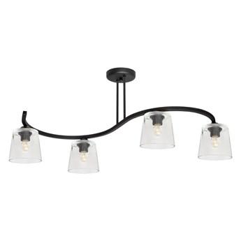 Żyrandol natynkowy LUCEA 4xE27/60W/230V czarny/przeźroczysty