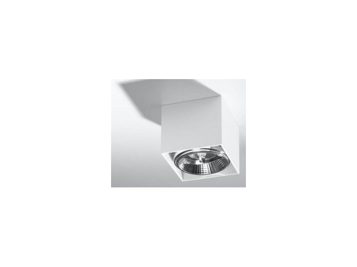 Minimalistyczny Plafon BLAKE biały Lampa aluminium kwadrat na sufit Idealna do salonu,  sypialni, korytarza Oprawa sufitowa żarówka GU10 Oświetlenie SOLLUX Oprawa halogenowa Oprawa stropowa Oprawa led Kwadratowe Kategoria Oprawy oświetleniowe
